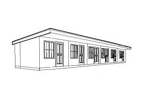 Проект Сборная гостиница на 6 номеров