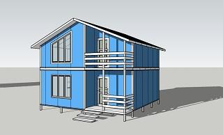 Второй вид дома площадью 102 кв.м.