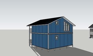Четвертый вид двухэтажного дома