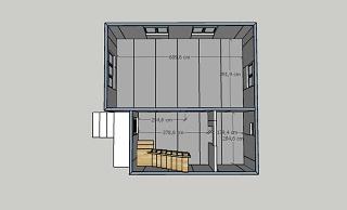 План первого этажа дома из сэндвич-панелей