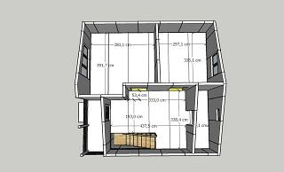 План второго этажа дома из сэндвич-панелей
