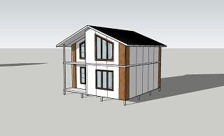 Второй вид дома площадью 104 кв.м. из сэндвич-панелей