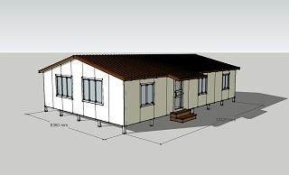 Второй вид дома площадью 110 кв.м.