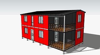 Проект гостевого дома с верандами