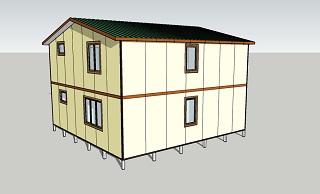 Второй вид дома площадью 140 кв.м.