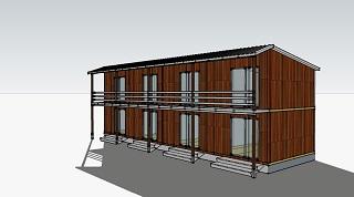 Проект Сборная гостиница на 8 номеров