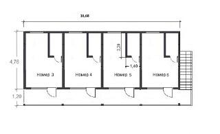 планировка номеров гостиницы