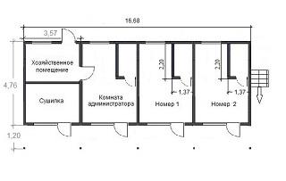 планировка номеров с мебелью гостиницы