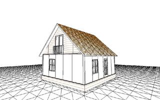 Проект сборного дома с мансардой