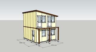 Проект двухэтажная гостиница на 4 номера