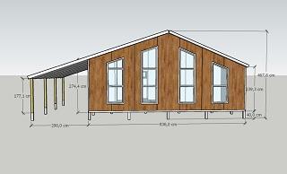 Фасад дома из сэндвич-панелей с размерами
