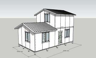 Комплект Дачный 63 - дом площадью 63 кв.м.