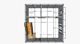 План первого этажа дом 36 кв.м.