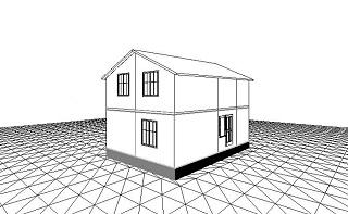 Проект сборного двухэтажного дома 94 кв.м.