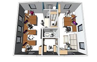 Вариант планировки дома трансформера