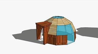 Купольный дом из сэндвич-панелей