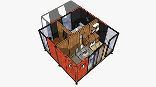 Вид модульного дома