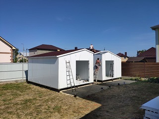 Монтаж двух гостевых домов в Витязево